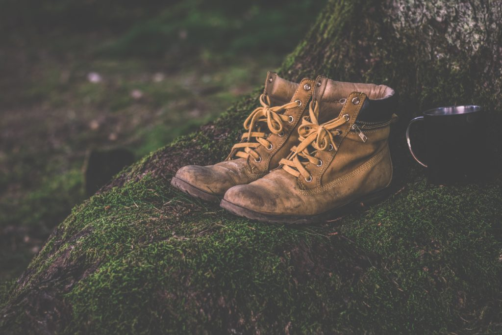 Staying safe in the mountains wear good shoes or hiking boots