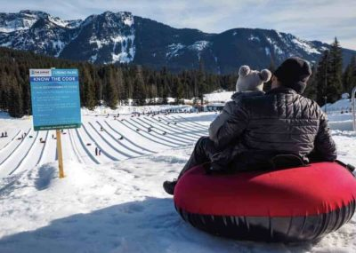 snow tubing at Summit of Snoqualmie